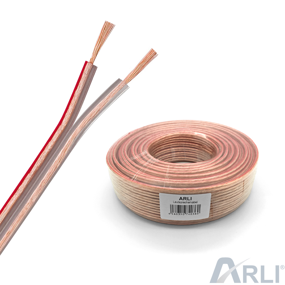 Lautsprecherkabel 2x2,5 mm² 50m Lautsprecher Kabel CCA Kupfer ...