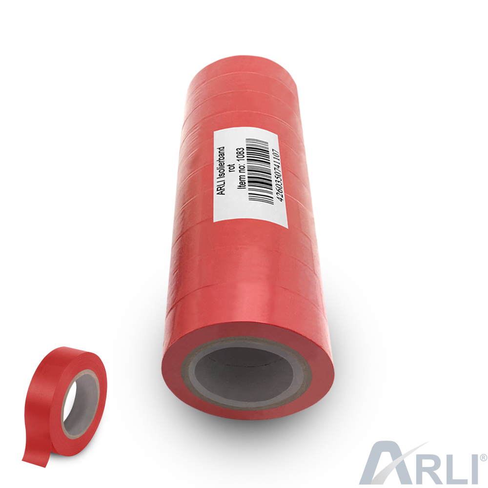 Isolierband rot 10x 10 m Klebeband 18 mm Isoband Elektro Isolier Klebe Band Kfz