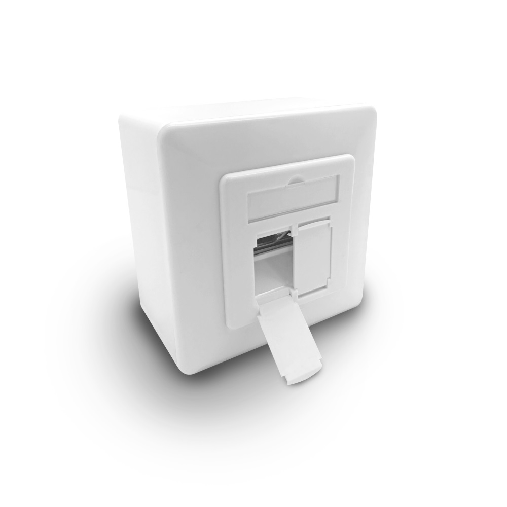 cat6a netzwerk dose 2x netzwerkdose rj45 2 port aufputz unterputz cat 6 7 lan ebay. Black Bedroom Furniture Sets. Home Design Ideas