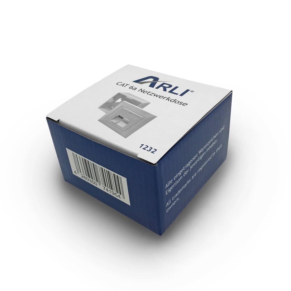 cat6a netzwerkdose 6 x netzwerk dose rj45 2 port aufputz unterputz cat 6 6x arli ebay. Black Bedroom Furniture Sets. Home Design Ideas