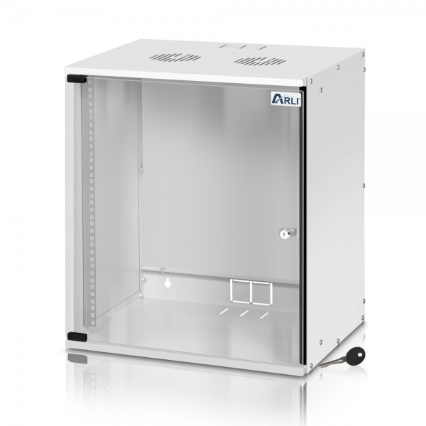 "ARLI 12U Netzwerkschrank 12HE Wandgehäuse 19"" Serverschrank"