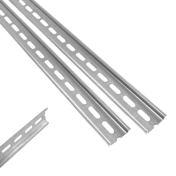 ARLI 2x 1m Hutschiene 35 x 7,5 mm gelocht Stahl verzinkt