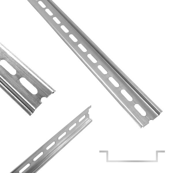 ARLI Hutschiene 35 x 7,5 mm gelocht Stahl verzinkt - 1 m