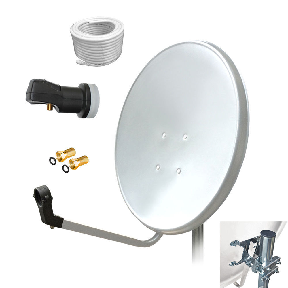 HD Sat Kabel 50 m Kompressionszange Abisoliermesser 10 x Stecker Set 4K 135 dB