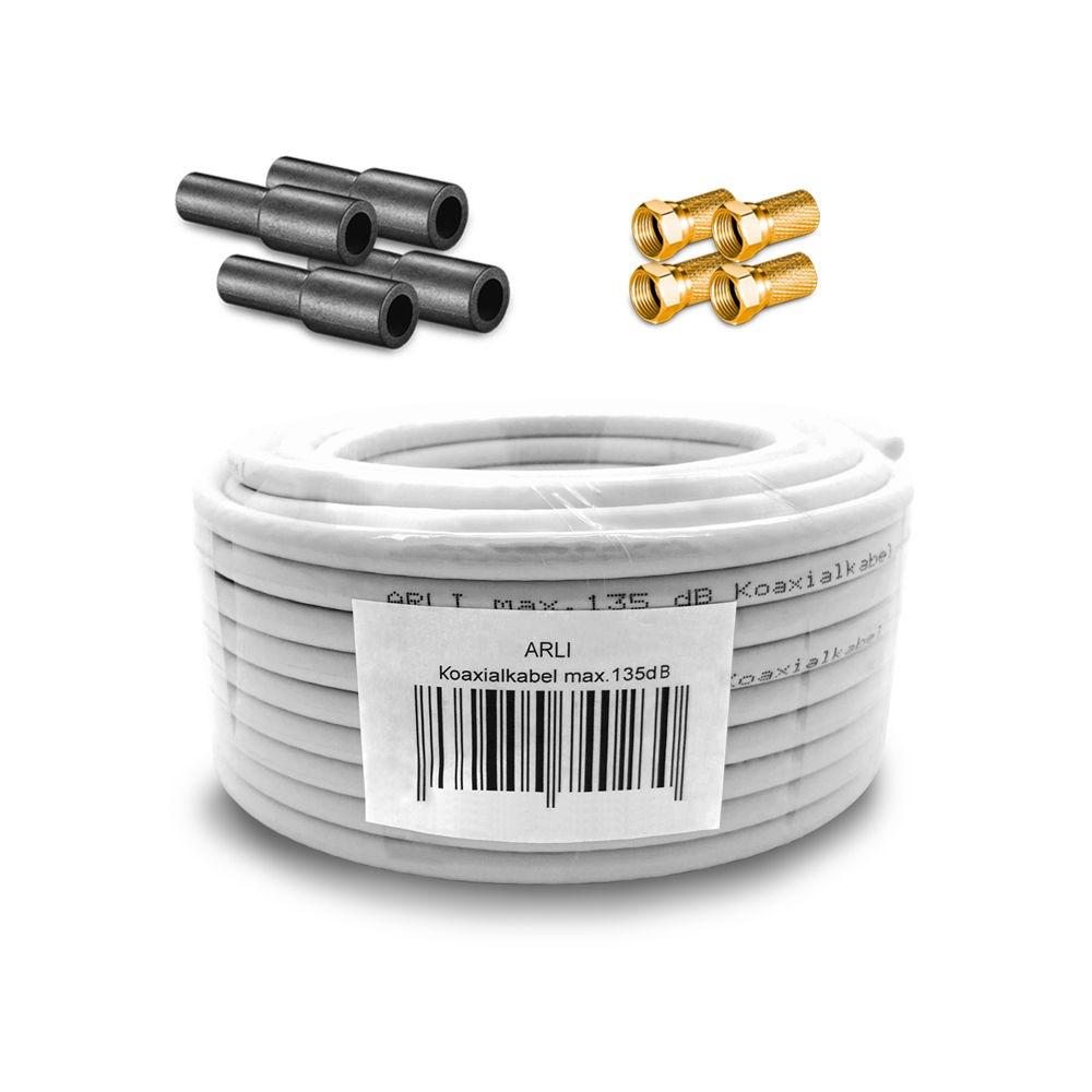 Winkel Anschlusskabel 15m HD Satkabel 135 dB Sat TV Koax Kabel Digital 4K ARLI