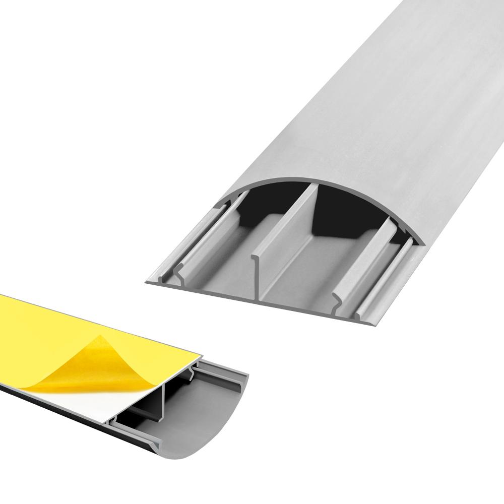 1m arli wand fussboden grau kabelkanal selbstklebend 50x12 mm installationskanal selbstklebend. Black Bedroom Furniture Sets. Home Design Ideas