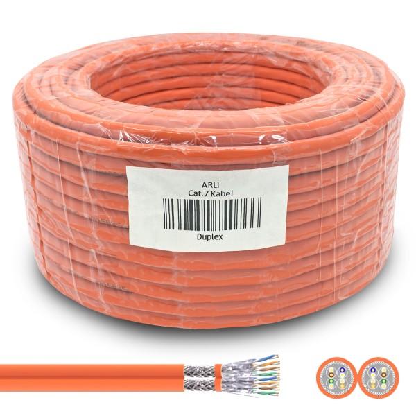 arli lan kabel 100m netzwerkkabel verlegekabel duplex twin ethernet cat 7 6 lankabel verlegekabel verlege datenkabel kat7 kat simplex intallationskabel it daten patchpanel netzwerkdose netzwerkschrank server orange 100 m