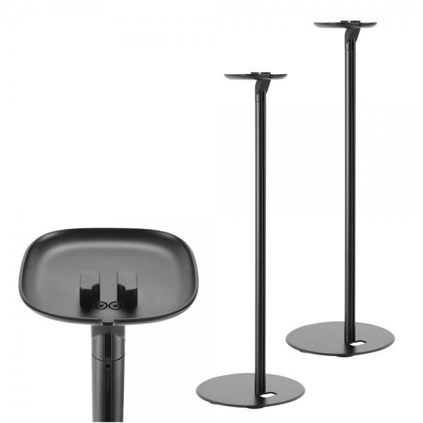 2 x Ständer für SONOS ONE und Play 1 Lautsprecher Boxen Halter Lautsprecherständer Schwarz