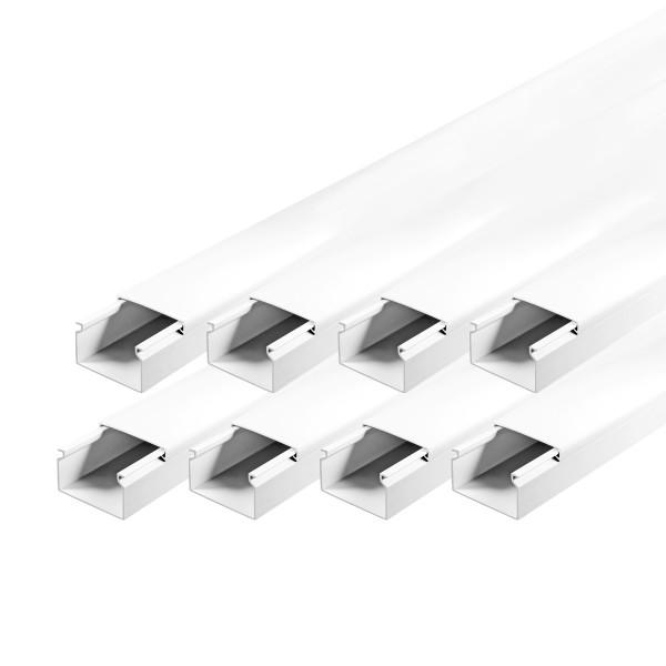 ARLI Kabelkanal 40 x 25 mm - 12m Installationskanal selbstklebend TV Bodenlochung weiss weiß grau Wandmontage Deckenmontage kabel kanal kabelkanal elektroinstallation leiste 10x15mm 16x16mm 25x25mm 40x25mm schraubbar PVC Elektro Kanal 30x20mm 30x30mm 60x4