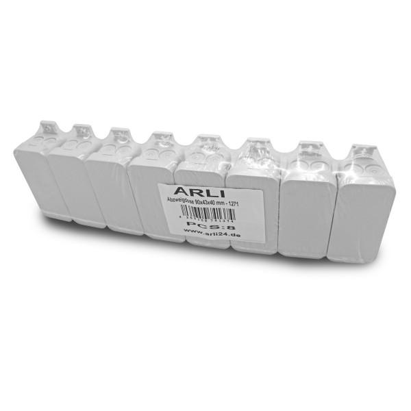 8 x ARLI Abzweigdose 90 x 43 x 40 mm - Aufputz Feuchtraumdose IP55